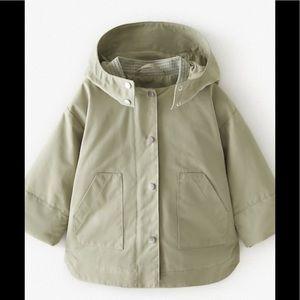 Zara Baby Girl 18-24 Mo Printed Lined Trench Coat